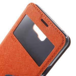 Peněženkové pouzdro s okýnkem na Samsung Galaxy A5 (2016) - oranžové - 6