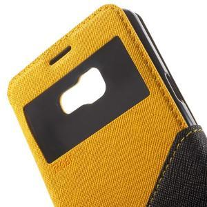 Peněženkové pouzdro s okýnkem na Samsung Galaxy A5 (2016) - žluté - 6