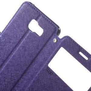 Peněženkové pouzdro s okýnkem na Samsung Galaxy A5 (2016) - fialové - 6