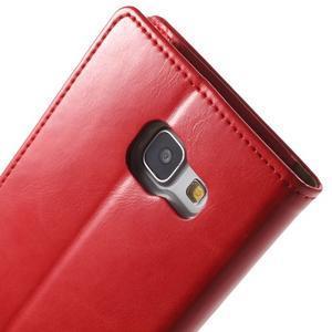 Moon PU kožené pouzdro na Samsung Galaxy A5 (2016) - červené - 6