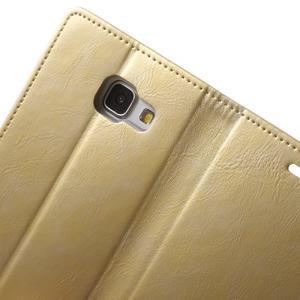 Moon PU kožené pouzdro na Samsung Galaxy A5 (2016) - zlaté - 6