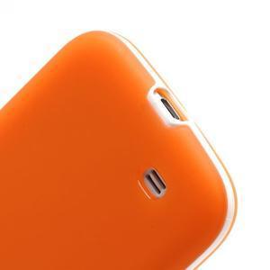 Gelové pouzdro 2v1 na Samsung Galaxy S4 - oranžové - 6