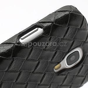 PU kožené pouzdro na Samsung Galaxy S4 - černé - 6