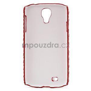 PU kožené puzdro pre Samsung Galaxy S4 - červené - 6