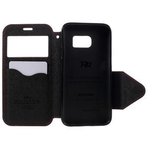 Diary pouzdro s okýnkem na Samsung Galaxy S7 - červené - 6