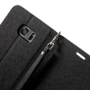 Mercury Orig PU kožené pouzdro na Samsung Galaxy S7 Edge - černé - 6