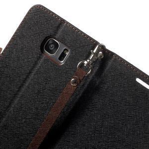 Mercury Orig PU kožené pouzdro na Samsung Galaxy S7 Edge - černé/hněé - 6