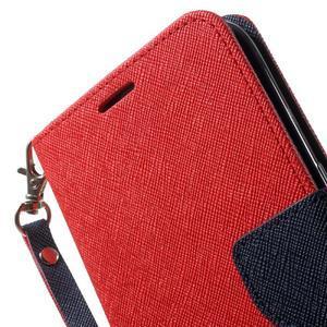 Mercury Orig PU kožené pouzdro na Samsung Galaxy S7 - červené - 6