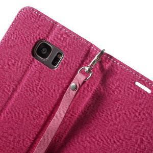 Mercury Orig PU kožené pouzdro na Samsung Galaxy S7 Edge - rose - 6