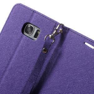 Mercury Orig PU kožené pouzdro na Samsung Galaxy S7 Edge - fialové - 6