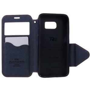 Diary pouzdro s okýnkem na Samsung Galaxy S7 - oranžové - 6