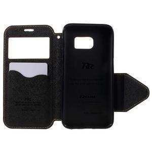 Diary pouzdro s okýnkem na Samsung Galaxy S7 - žluté - 6
