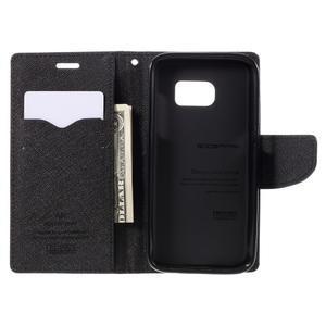 Goosper PU kožené pouzdro na Samsung Galaxy S7 - černé - 6