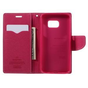 Goosper PU kožené pouzdro na Samsung Galaxy S7 - růžové - 6