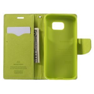 Goosper PU kožené pouzdro na Samsung Galaxy S7 - tmavěmodré - 6