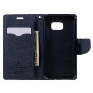 Goosper PU kožené pouzdro na Samsung Galaxy S7 - fialové - 6