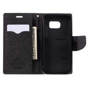 Goosper PU kožené pouzdro na Samsung Galaxy S7 - hnědé - 6
