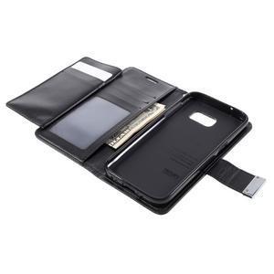 Luxury PU kožené pouzdro na Samsung Galaxy S7 - černé - 6