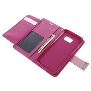 Luxury PU kožené pouzdro na Samsung Galaxy S7 - rose - 6