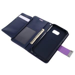 Luxury PU kožené pouzdro na Samsung Galaxy S7 - fialové - 6