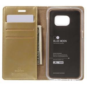 Bluemoon PU kožené pouzdro na mobil Samsung Galaxy S7 - zlaté - 6