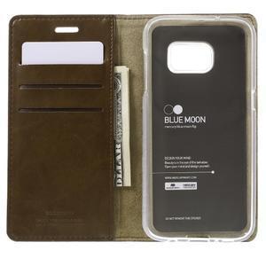 Bluemoon PU kožené pouzdro na mobil Samsung Galaxy S7 - hnědé - 6