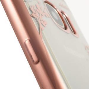 Nice gelový obal s kamínky na Samsung Galaxy S7 - bílé květiny - 6