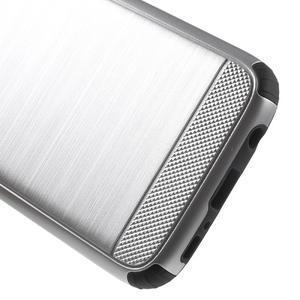 Dvoudílný odolný kryt na Samsung Galaxy S7 - stříbrný - 6