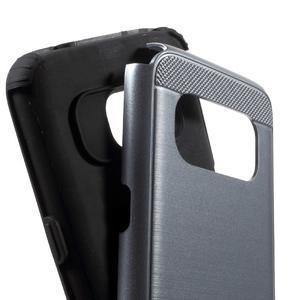 Dvoudílný odolný kryt na Samsung Galaxy S7 - šedý - 6