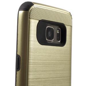 Dvoudílný odolný kryt na Samsung Galaxy S7 - zlatý - 6