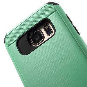 Dvoudílný odolný kryt na Samsung Galaxy S7 - cyan - 6