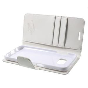 Sonata PU kožené pouzdro na Samsung Galaxy S7 - bílé - 6