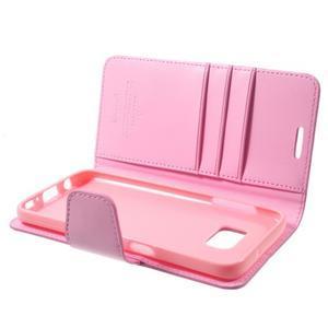 Sonata PU kožené pouzdro na Samsung Galaxy S7 - růžové - 6