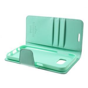 Sonata PU kožené pouzdro na Samsung Galaxy S7 - azurové - 6