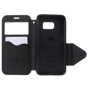 Diary pouzdro s okýnkem na Samsung Galaxy S7 - černé - 6