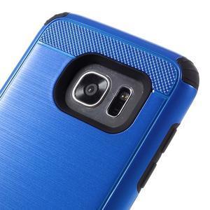 Odolný dvoudílný obal na Samsung Galaxy S7 edge - modrý - 6