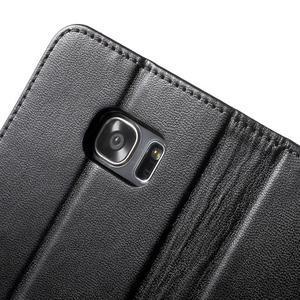Rich PU kožené pouzdro na Samsung Galaxy S7 edge - černé - 6