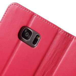 Rich PU kožené pouzdro na Samsung Galaxy S7 edge - rose - 6