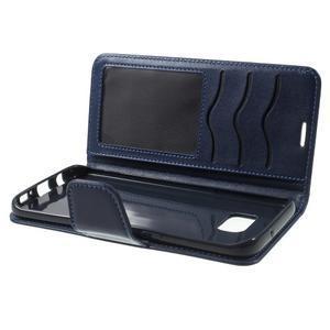 Rich PU kožené pouzdro na Samsung Galaxy S7 edge - tmavěmodré - 6