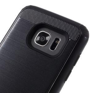 Odolný dvoudílný obal na Samsung Galaxy S7 edge - černý - 6