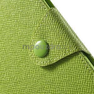 Zelené PU kožené peněženkové pouzdro na Sony Xperia M4 Aqua - 6