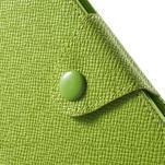 Zelené PU kožené peněženkové pouzdro na Sony Xperia M4 Aqua - 6/7