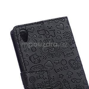 Černé texturované pouzdro na Sony Xperia M4 Aqua - 6