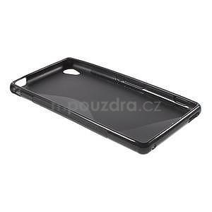 Černý s-line pružný obal na Sony Xperia M4 Aqua - 6