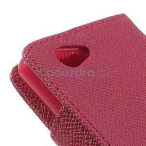 Peněženkové PU kožené pouzdro na Sony Xperia Z1 Compact - rose - 6