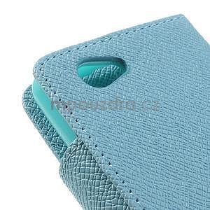 Peněženkové PU kožené pouzdro na Sony Xperia Z1 Compact - modré - 6