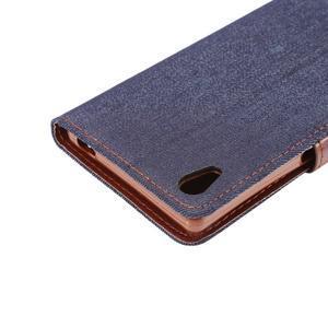 Jeans peněženkové pouzdro Sony Xperia Z5 - černomodré - 6
