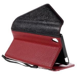 Stylové peněženkové pouzdro Sony Xperia Z5 - červené - 6