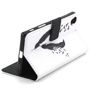 Cross peněženkové pouzdro na Sony Xperia Z5 - ptačí peříčka - 6
