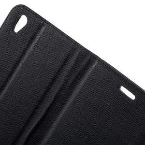 Grid PU kožené pouzdro na Sony Xperia Z5 - černé - 6
